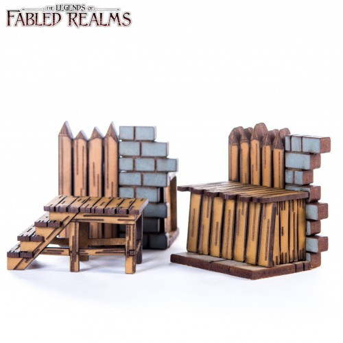 pre-painted MDF 4Ground Fantasy Fabled Realms Ruined Wall