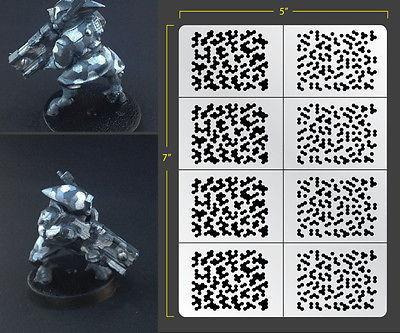 Fallout Hobbies Infantry Sized Hex Camo Airbrush Stencil