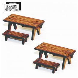 Short Trestle Tables & Benches