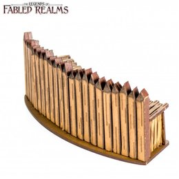 Curved Palisade Wall
