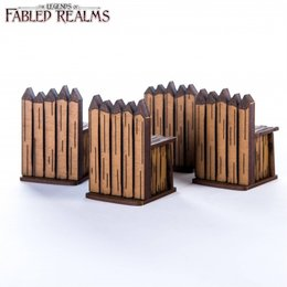 "Four 1.5"" Palisade Walls"
