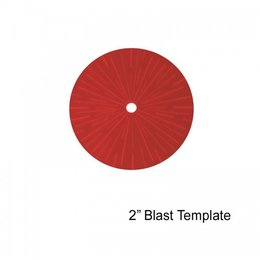 "2"" Blast Template (Red)"