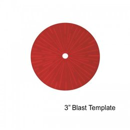 "3"" Blast Template (Red)"