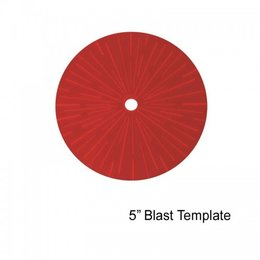 "5"" Blast Template (Red)"
