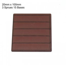 Brown Rectangle 20mm x 100mm