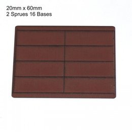 Brown Rectangle 20mm x 60mm