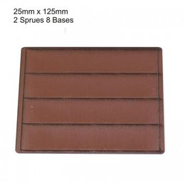 Brown Rectangle 75mm x 125mm