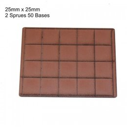 Brown Square 25mm