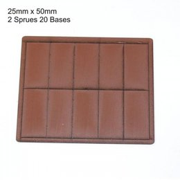 Brown Rectangle 25mm x 50mm