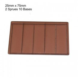 Brown Rectangle 25mm x 75mm