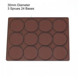 Brown Round 30mm