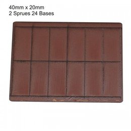 Brown Rectangle 40mm x 20mm