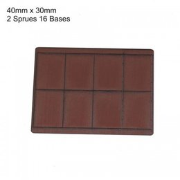 Brown Rectangle 40mm x 30mm