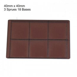 Brown Square 40mm