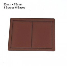 Brown Rectangle 50mm x 75mm