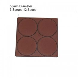 Brown Round 50mm