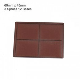 Brown Rectangle 60mm x 45mm