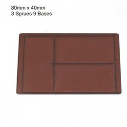 Brown Rectangle 80mm x 40mm