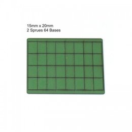 Green Rectangle 15mm x 20mm