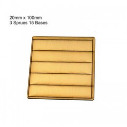 Tan Rectangle 20mm x 100mm