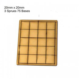 Tan Square 20mm