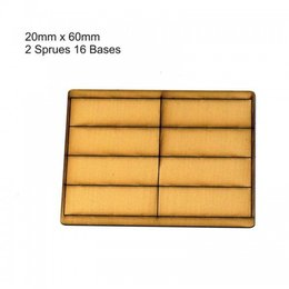 Tan Rectangle 20mm x 60mm