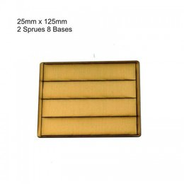 Tan Rectangle 25mm x 125mm