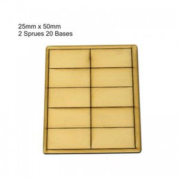 Tan Rectangle 25mm x 50mm