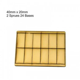 Tan Rectangle 40mm x 20mm