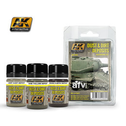 AK-4060 Dirt & Dust Deposits Weathering Set