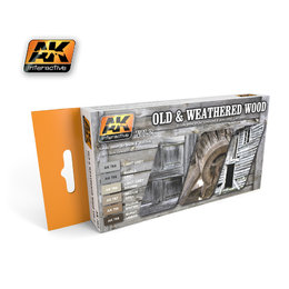 AK-563 Old & Weathered Wood Paint Set #2