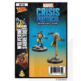 Marvel Crisis Protocol Miniatures Game Wolverine and Sabertooth
