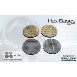 Hex Round Bases 55mm