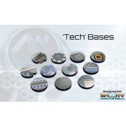 Tech Round Bases 25mm