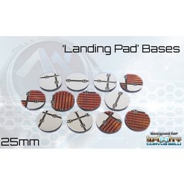 Landing Pad Round Bases 25mm