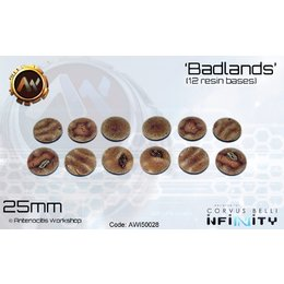Badlands Round Bases 25mm
