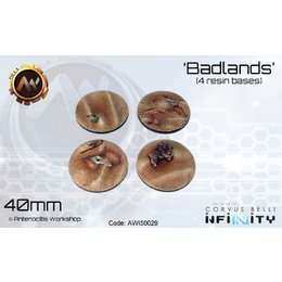 Badlands Round Bases 40mm