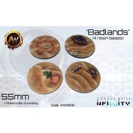 Badlands Round Bases 55mm