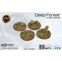Deep Forest Round Bases 40mm