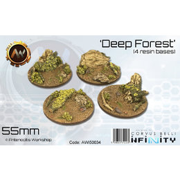 Deep Forest Round Bases 55mm