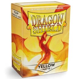 Sleeves - Dragon Shield - Box 100 - Yellow MATTE