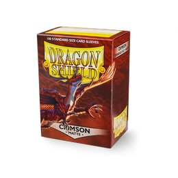 Sleeves - Dragon Shield - Box 100 - Crimson MATTE