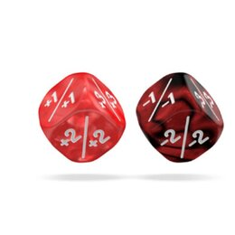 D6 Marble / Gemidice Positive & Negative 12mm Red (14)