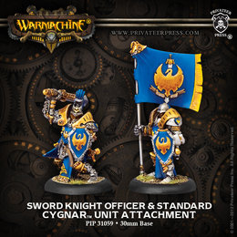 Sword Knight Officer & Standard Unit Attachment