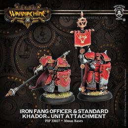 Iron Fang Pikemen Officer and Standard Bearer Unit Attachment