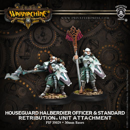 Houseguard Halberdiers Officer and Standard Unit Attachment