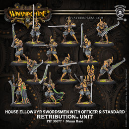 House Ellowuyr Swordsmen with Officer and Standard unit