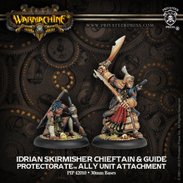 Idrian Skirmisher Chieftain and Guide Unit Attachment