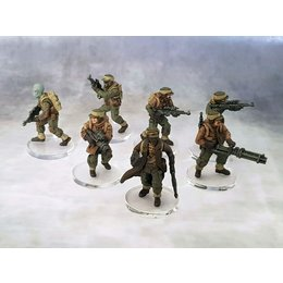Infantry Clear Bases 3mm (27mm)