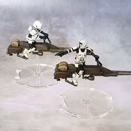 Speeder Bike Clear Bases 3mm (50mm)